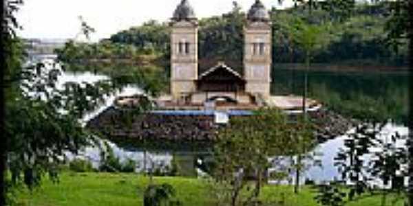 Torre da Igreja Matriz na Represa de Itá-SC-Foto:Darlan Corral