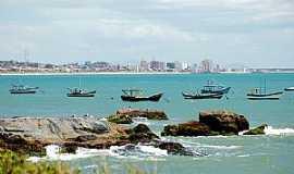 Itajubá - Itajubá-SC-Barcos na Praia do Grant e ao fundo a cidade-Foto:Jakson Santos
