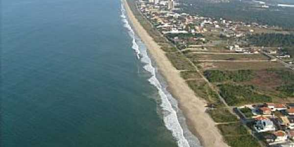 Itajubá-SC-Praia do Centro e a cidade-Foto:Celso Lima