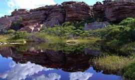 Morro do Chap�u - Morro do Chap�u-BA-Campo Rupestre e Lagoa-Foto:Caio Graco Machado
