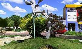 Morro do Chap�u - Morro do Chap�u-BA-Monumento na pra�a central-Foto:Caio Graco Machado