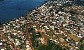 Itapiranga - Vista do rio Uruguai e a cidade de Itapiranga-SC-Foto:Loivinho A.M.França