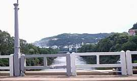 Joaçaba - Joaçaba-SC-Ponte sobre o Rio do Peixe-Foto:THIAGO DAMBROS