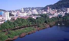 Joaçaba - Joaçaba-SC-Rio do Peixe e a cidade-Foto:THIAGO DAMBROS