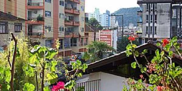 Joaçaba-SC-Vista do centro da cidade-Foto:THIAGO DAMBROS