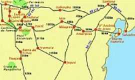 Mucugê - Mapa