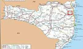 Luiz Alves - Mapa de Localização - Luiz Alves-SC