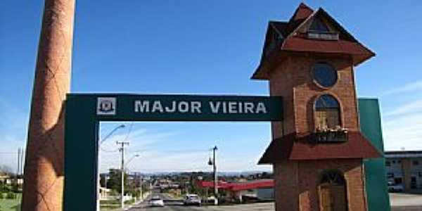 Major Vieira-SC-Pórtico de entrada da cidade-Foto:Ivo Kindel