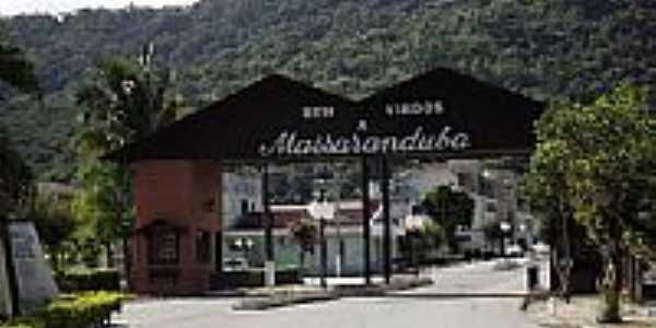 Portal de entrada de Massaranduba-SC-Foto:Sgt.Apache