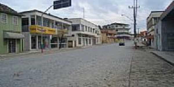 Rua central do comércio em Monte Castelo-SC-Foto:Jair Teixeira