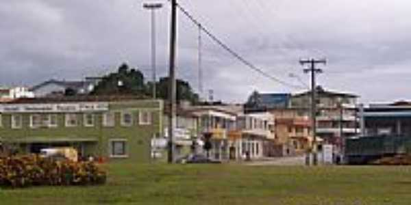 Trevo de acesso na BR-116 em Monte Castelo-SC-Foto:Jair Teixeira