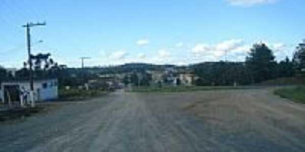 Vista da cidade pela BR-116 em Monte Castelo-SC-Foto:Jair Teixeira
