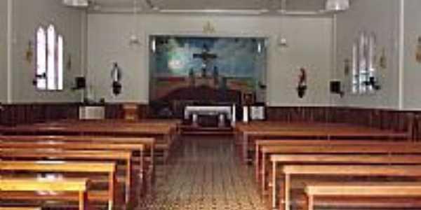 Interior da Capela Santa Cruz em Morro Grande-SC-Foto:José Carminatti