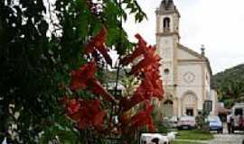 Nova Trento - Igreja construida com a participação de Madre Paulina em Vígolo, Nova Trento-SC-Foto:Romão