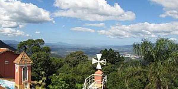 Nova Trento-SC-Vista do alto do Morro da Cruz-Foto:Sandro Salomon
