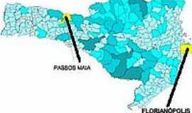 Passos Maia - Mapa de Localização - Passos Maia-SC