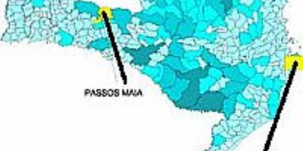 Mapa de Localização - Passos Maia-SC