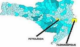 Petrolândia - Mapa de Localização - Petrolândia-SC