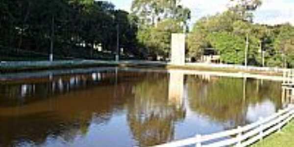 Ponte Serrada-SC-Lago no Parque de Exposições-Foto:THIAGO DAMBROS