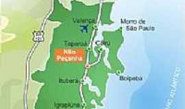 Nilo Peçanha - Mapa