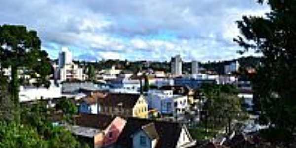São Bento do Sul-SC-Vista da área central da cidade-Foto:Edson A Hardt