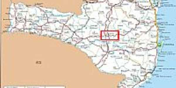 Mapa de Localização - São Cristovão do Sul-SC