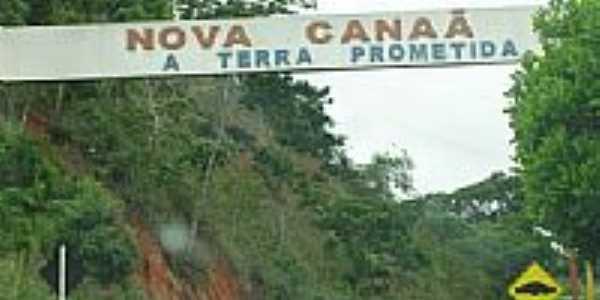 Entrada para Nova Canaã-Foto:cbmatos