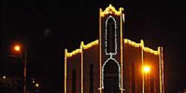 Igreja Batista vista noturna no Natal-Foto:reinaldoataide