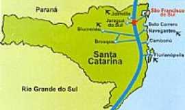 São Francisco do Sul - Mapa
