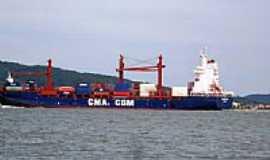 São Francisco do Sul - Navio cargueiro-Foto:Renovatiotur Náutica…