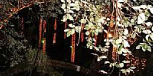 Visão noturna da Gruta de N.Sra.de Lourdes em São Miguel do Oeste-SC-Foto:José Glanert