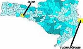 Seara - Mapa de Localização - Seara-SC