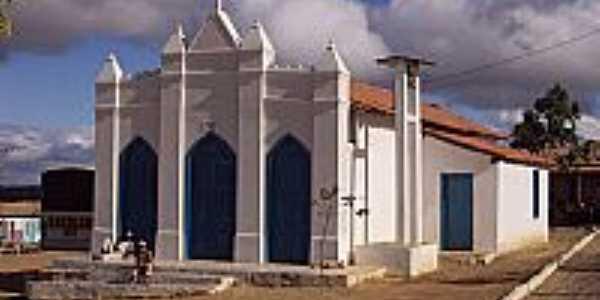 Igreja Matriz no Povoado de Nova Itaipê-BA-Foto:nadoautodidata.