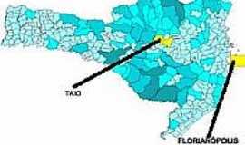 Taió - Mapa de Localização - Taió-SC