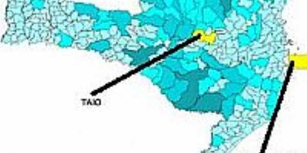 Mapa de Localização - Taió-SC