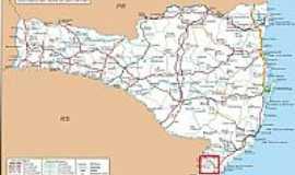 Turvo - Mapa de Localização - Turvo-SC