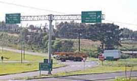 Vargem Bonita - Trevo de acesso de Vargem Bonita-SC-Foto:THIAGO DAMBROS