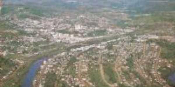 Vista aérea de Videira  1980, Por Leonilda  Guzzi