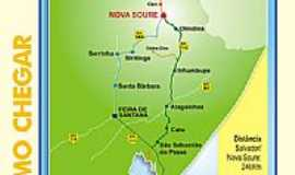 Nova Soure - Mapa de Localiza��o - Nova Soure-BA
