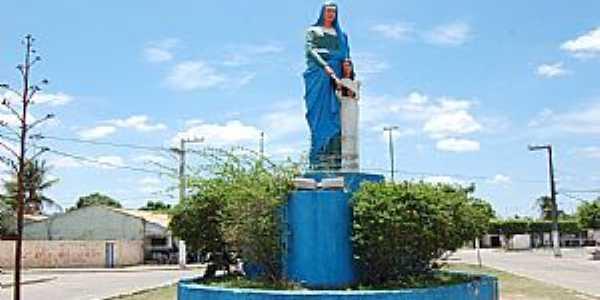 Aquidabã-SE-Imagem de Sant´Ana na entrada-Foto:www.sefaz.se.gov.br