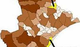 Canhoba - Mapa de Localização - Canhoba-SE