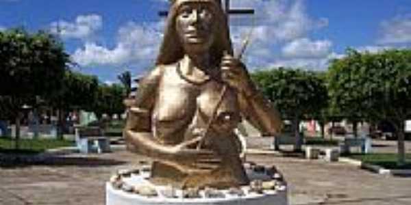 Busto em homenagem à Mãe Carira em Carira-SE-Foto:mmsite