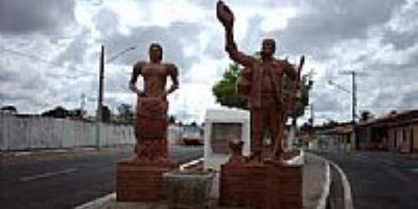 Monumento na entrada de Cumbe-SE-Foto:Sergio Falcetti