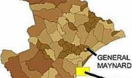 General Maynard - Mapa de Localização - General Maynard-SE