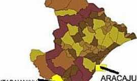 Itabaianinha - Mapa de Localização - Itabaianinha-SE