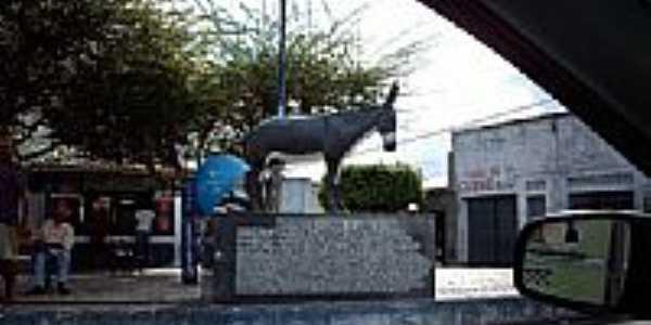 Monumento em homenagem ao Festival de Jegue em Itabi-SE-Foto:Sergio Falcetti