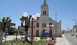 Macambira - Praça e Igreja Matriz de São Francisco-Foto:Almeida Bispo