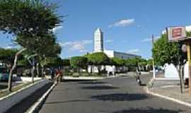 Moita Bonita - Praça da Matriz de Santa Terezinha em Moita Bonita-SE-Foto:Almeida Bispo