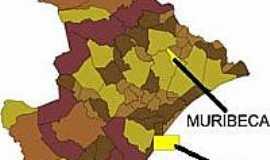 Muribeca - Mapa de Localização - Muribeca-SE
