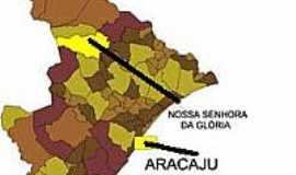 Nossa Senhora da Glória - Mapa de Localização - N.Sr. da Glória-SE